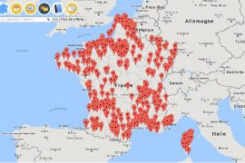 La carte de Transparency France recense toutes les affaires de corruption connues sur le territoire. Source : capture d'écran