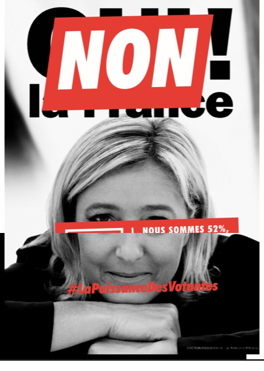 Version Le Pen. Crédit photo : Collectif 52